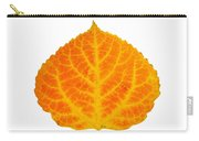 Orange And Yellow Aspen Leaf 3 Carry-all Pouch