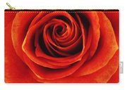 Orange Apricot Rose Macro With Oil Painting Effect Carry-all Pouch