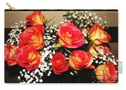 Orange Apricot Roses With Oil Painting Effect Carry-all Pouch