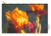 Orange Bearded Irises Carry-all Pouch