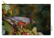 Robin's Orange Buffet Carry-all Pouch