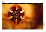 Orange Burst Abstract Carry-all Pouch