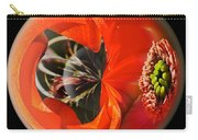 Orange Cactus Flower In A Globe Carry-all Pouch