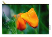 Orange California Poppies Carry-all Pouch