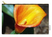 Orange Calla Lilly Flower In The Garden Carry-all Pouch