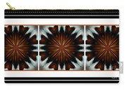 Orange Chocolate Trio - Kaleidoscope - Triptych Carry-all Pouch