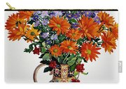 Orange Chrysanthemums Carry-all Pouch