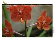 Orange Colored Orchid Carry-all Pouch