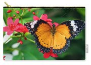 Orange Common Lacewing Butterfly Carry-all Pouch