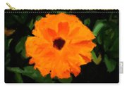 Orange Country Flowers - Impressionist Series Carry-all Pouch