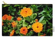 Orange Country Flowers - Series I Carry-all Pouch