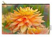 Orange Cream Dahlia Carry-all Pouch