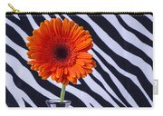 Orange Daisy In Zebra Vase Carry-all Pouch