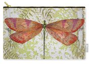 Orange Dragonfly On Vintage Tin Carry-all Pouch