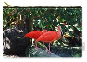 Orange Feathered Friends Carry-all Pouch