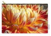 Orange Floral Art Dinner Plate Dahlia Flower Carry-all Pouch
