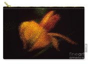 Orange Floral In Abstract Carry-all Pouch