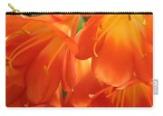 Orange Flower Petals Carry-all Pouch