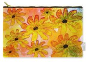 Orange Flowers Galore Digital Art Carry-all Pouch