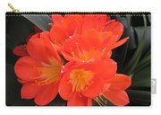 Bright Orange Flowers Carry-all Pouch