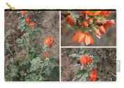 Orange Globe Mallow Collage Carry-all Pouch
