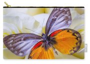Orange Gray Butterfly Carry-all Pouch