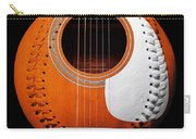 Orange Guitar Baseball White Laces Square Carry-all Pouch