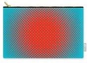 Optical Illusion - Orange On Aqua Carry-all Pouch