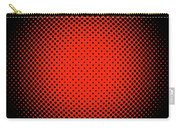 Optical Illusion - Orange On Black Carry-all Pouch