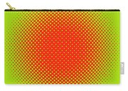 Optical Illusion - Orange On Lime Carry-all Pouch