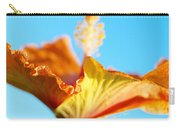 Orange Hibiscus Texture II Carry-all Pouch