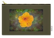 Orange Hibiscus Textured Carry-all Pouch