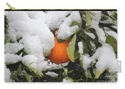 Orange In Snow Carry-all Pouch
