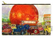 Orange Julep With Antique Cars Carry-all Pouch by Carole Spandau