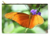 Orange Julia Butterfly Carry-all Pouch