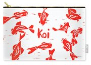 Orange Lazy Koi Carry-all Pouch by Lynn-Marie Gildersleeve