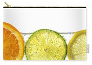 Orange Lemon And Lime Slices In Water Carry-all Pouch by Elena Elisseeva