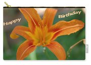 Orange Lily Birthday 1 Carry-all Pouch