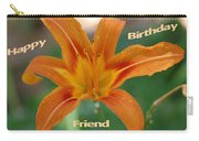 Orange Lily Birthday Carry-all Pouch
