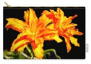 Orange Lily Twins Carry-all Pouch