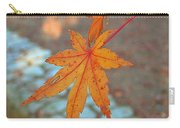 Orange Maple Leaves Carry-all Pouch