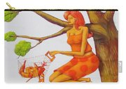 Orange Olga Carry-all Pouch