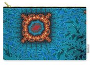 Orange On Blue Abstract Carry-all Pouch