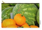 Orange On Green Carry-all Pouch