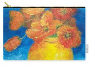 Orange Poppies In Yellow Vase Carry-all Pouch