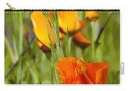 Orange Poppy Carry-all Pouch