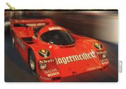 Orange Race Car Carry-all Pouch