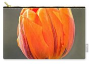 Orange Red Tulip Square Carry-all Pouch