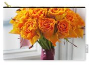 Orange Rose Wedding Bouquet Carry-all Pouch