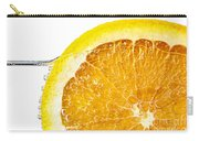 Orange Slice In Water Carry-all Pouch by Elena Elisseeva